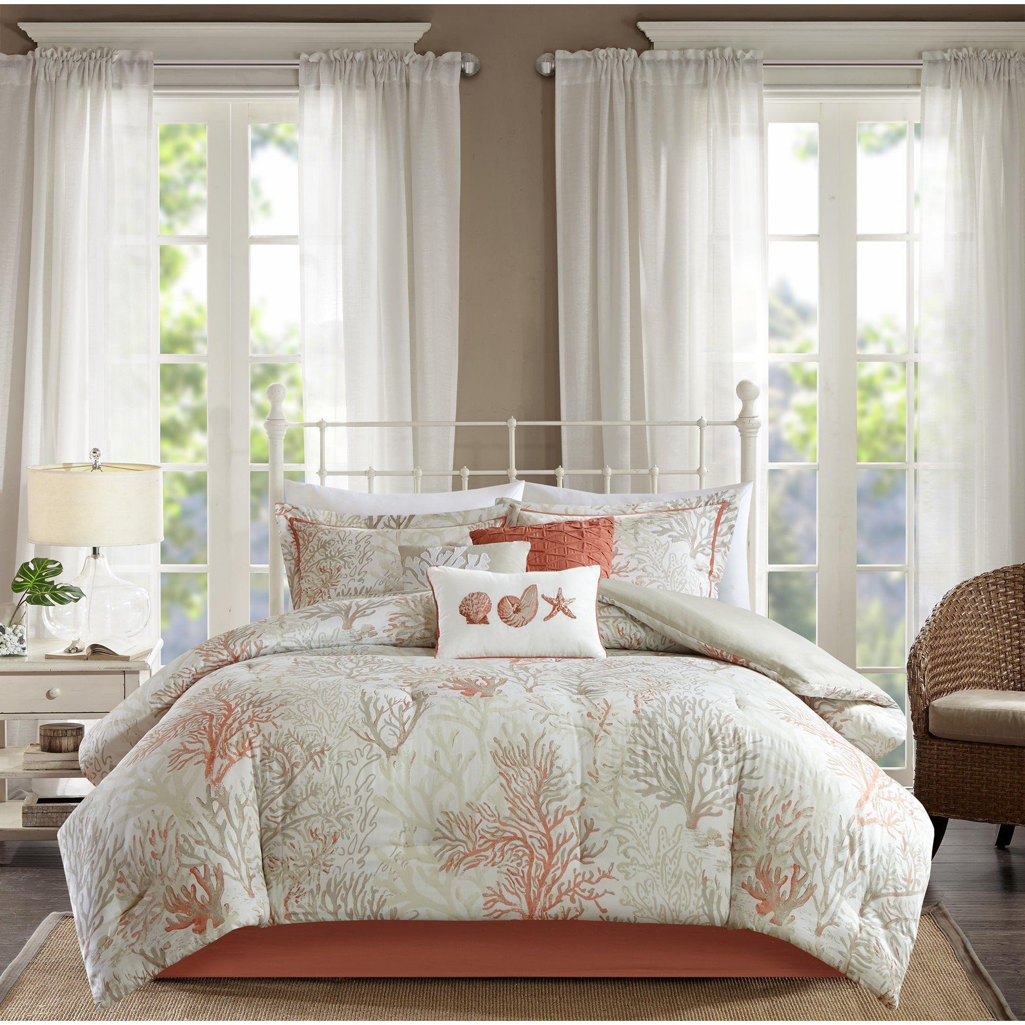 coral abrego comforter sateen cotton madison park cal pink king set pin piece