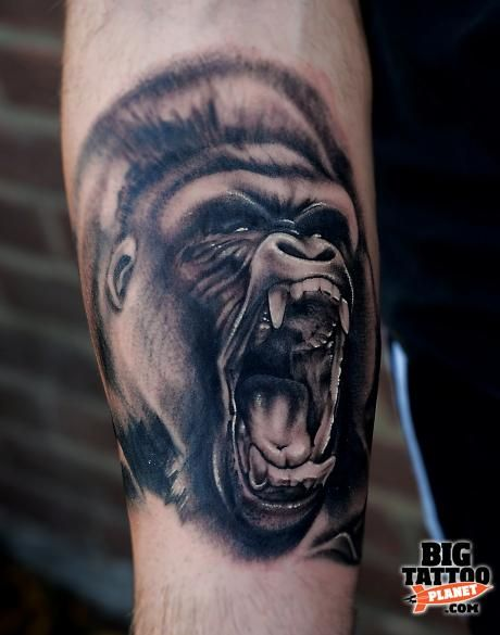gorilla tattoo tatto pinterest. Black Bedroom Furniture Sets. Home Design Ideas