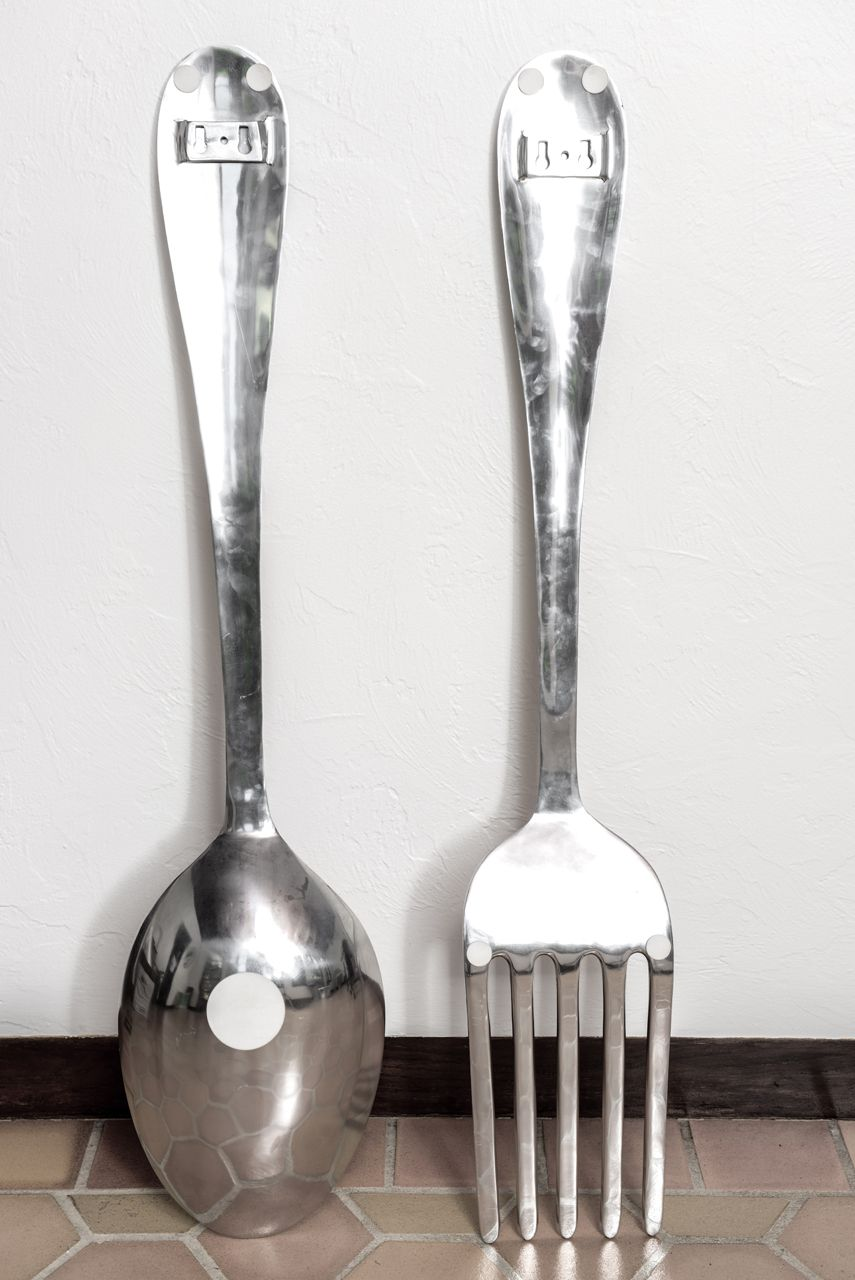 Big Spoon And Fork Wall Decor Decorative Spoon Kitchen Wall