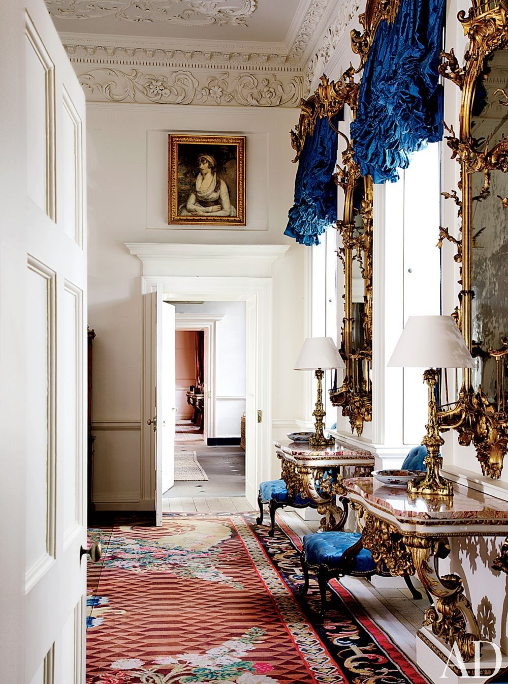 Inside House Drawing: The Blue Drawing Room At Dumfries House, Axminster Rug