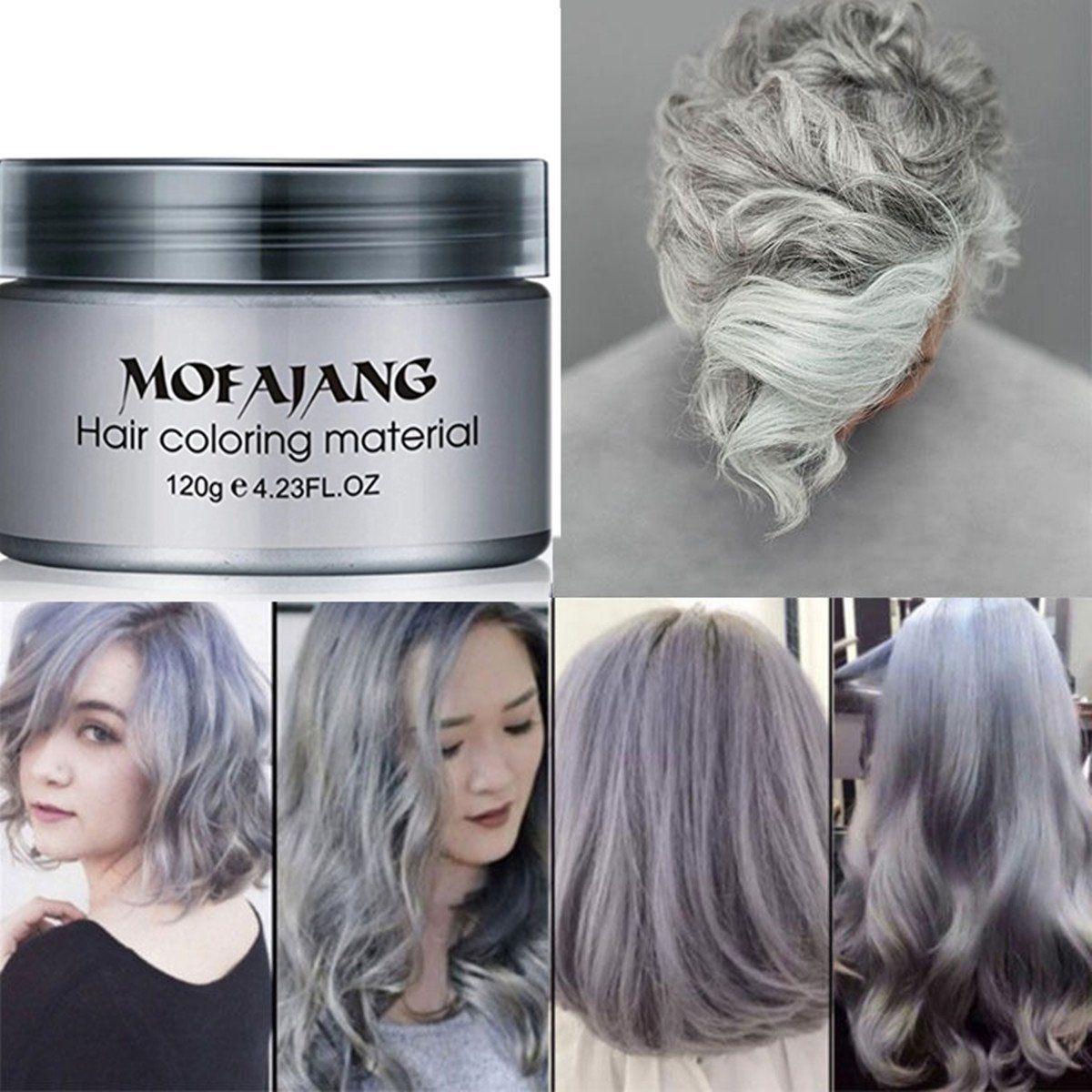 Garyob Silver Gray Hair Wax Natural Ash Matte Long Lasting