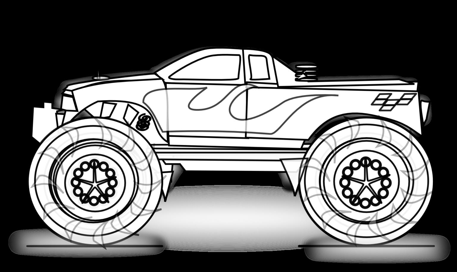 Tranh tô màu xe tải dành cho bé 5 tuổi đẹp nhất! | Monster trucks, Trang tô  màu, Xe ô tô