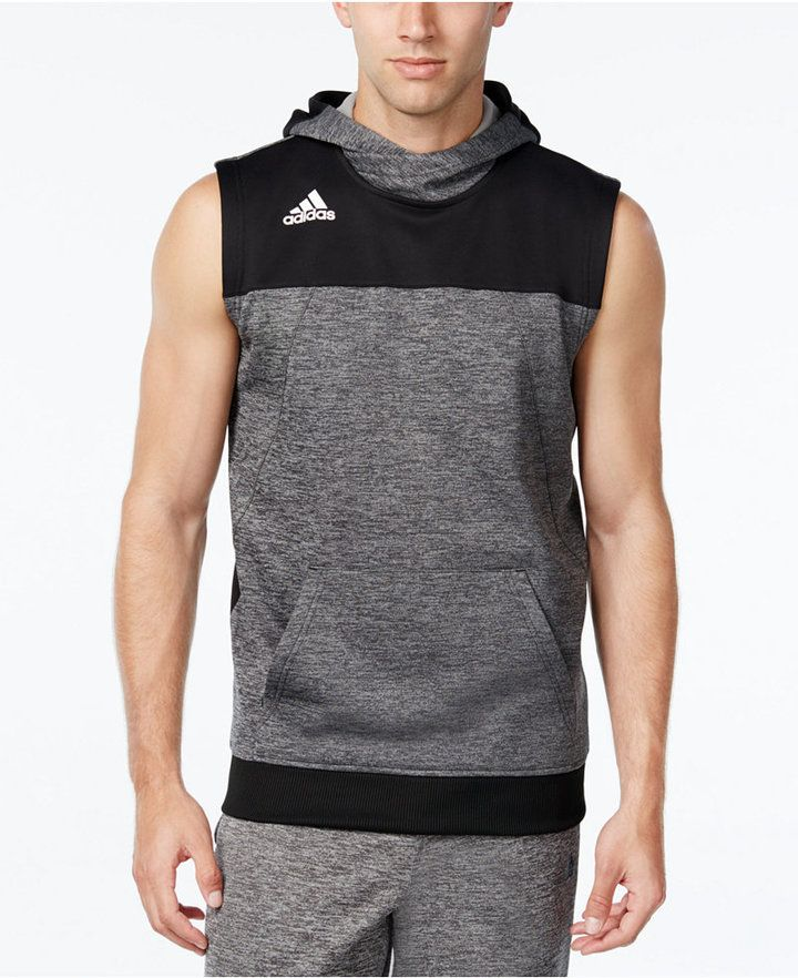0a268db9d7568 adidas Men s Colorblocked Sleeveless Hoodie