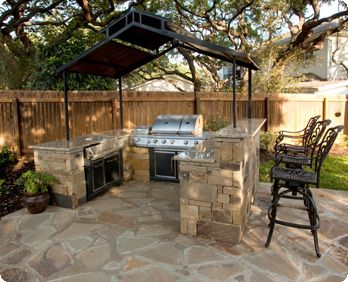 Simple outdoor kitchen patio n pool pinterest simple for Basic outdoor kitchen ideas