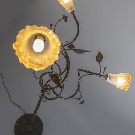 Stehleuchte Vedelago 3 Antik. #stehleuchte #stehlampe #romantisch #baumblätter #innenbeleuchtung #rabatt