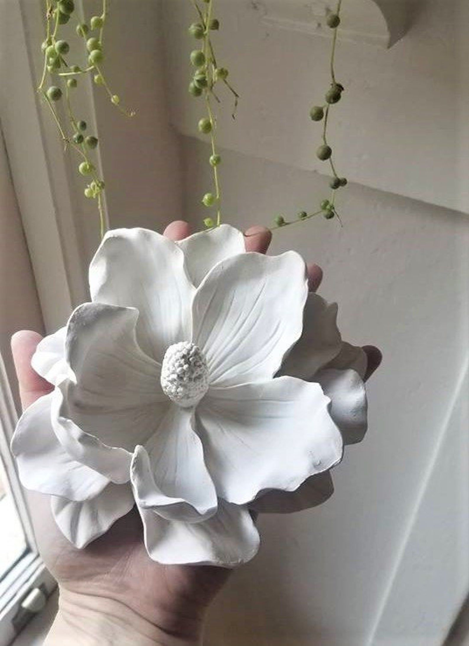 Floral Wall Decor Spring Decor Realistic Wall Flowers Mothers Day Gift Magnolia Wall Flowers Garden Nursery Decor Big Flowers In 2021 Floral Wall Decor Flower Wall Flower Sculptures