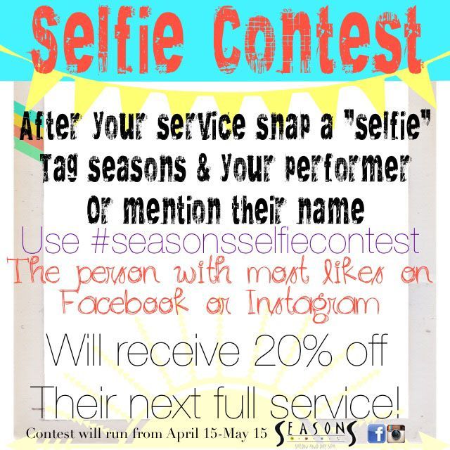 Seasons Selfie Contest salon Pinterest Salons, Salon ideas - coupon disclaimers