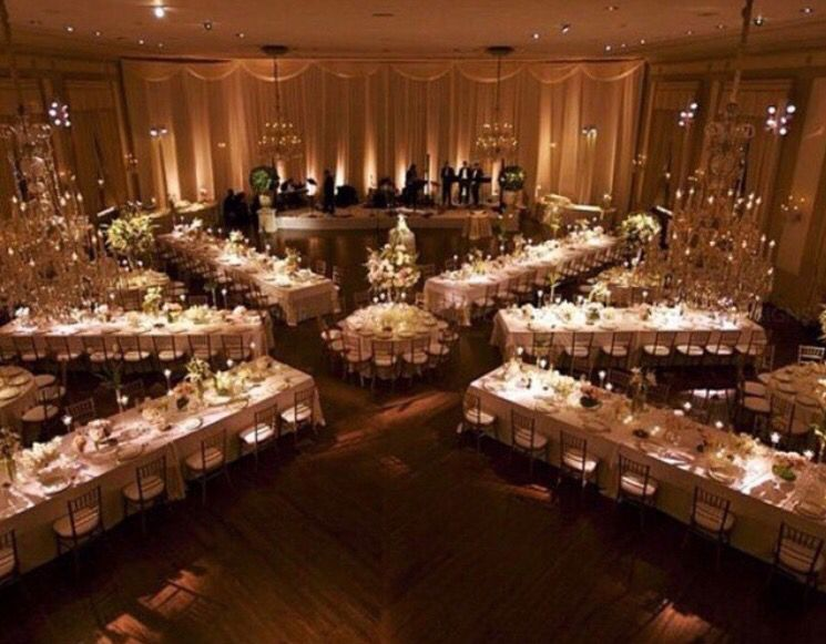 Like the set up receptions/wedding Pinterest Wedding, Weddings - wedding reception setup with rectangular tables