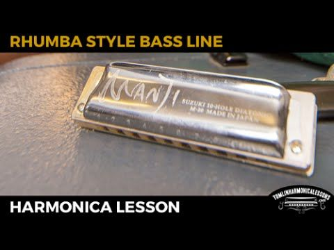How to play a fake rhumba style harmonica bass line over a
