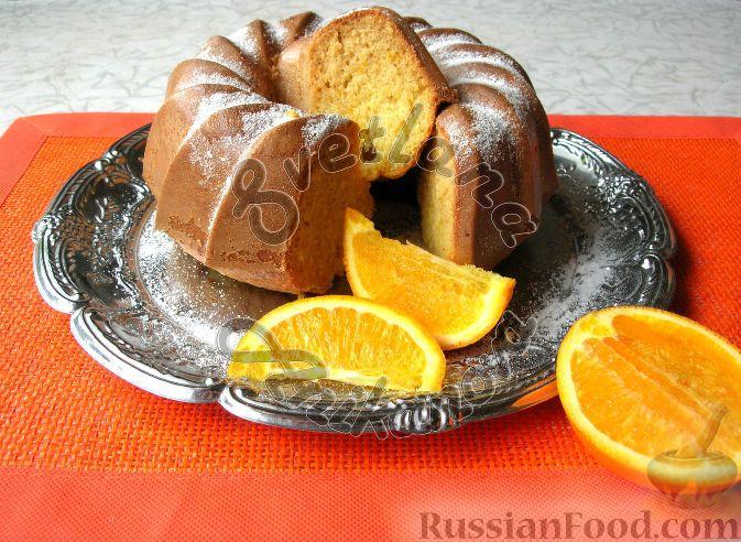 Рецепт Кекс на кефире, с апельсиновой цедрой, cостав: мука ...