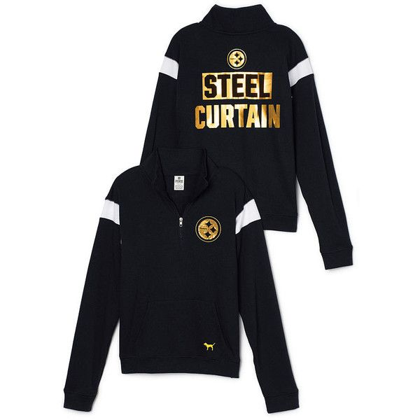 1fef57002 PINK Pittsburgh Steelers Bling Boyfriend Half-Zip ( 70) ❤ liked on Polyvore  featuring. Victoria Secret ...