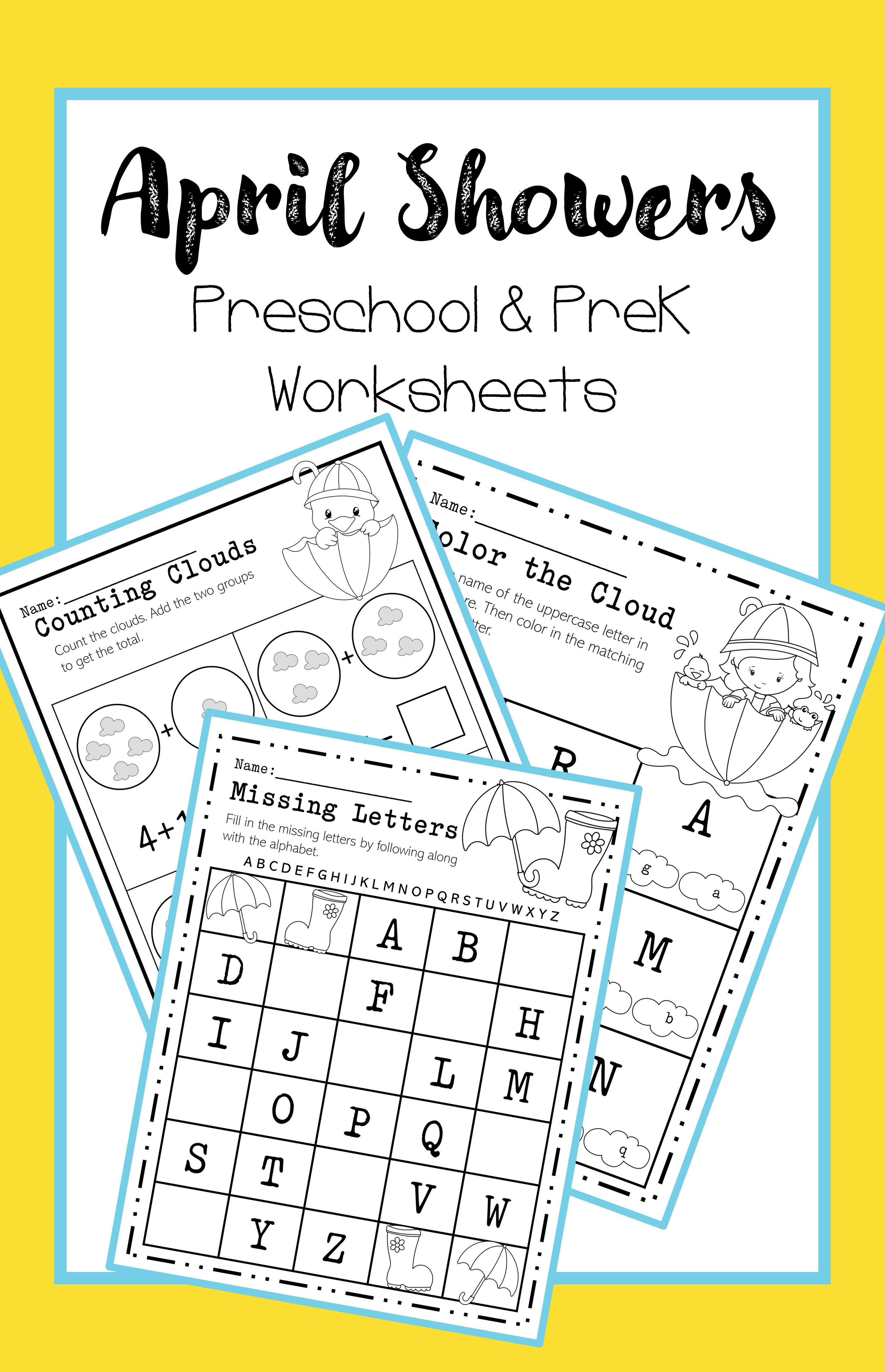 April Preschool And Pre K Worksheets