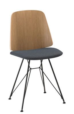 Chaise June Zanotta Bleu Noir Bois Naturel Made In Design Chair Home Furniture Furniture