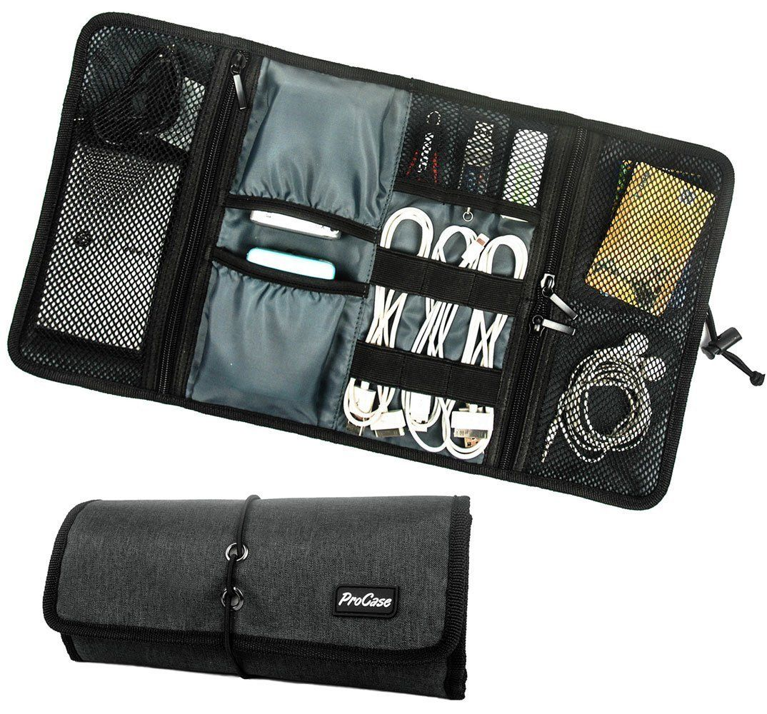 For tech, tools ProCase Rollup Electronics Organizer