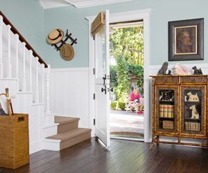 Create a welcoming entry to your home with this easy foyer decorating formula.