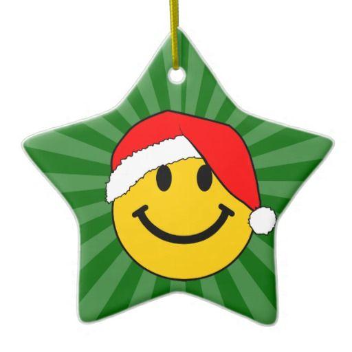christmas santa smiley face christmas ornament smiley and smileys rh nz pinterest com Laughing Smiley Face Clip Art Santa Smiley Face Clip Art