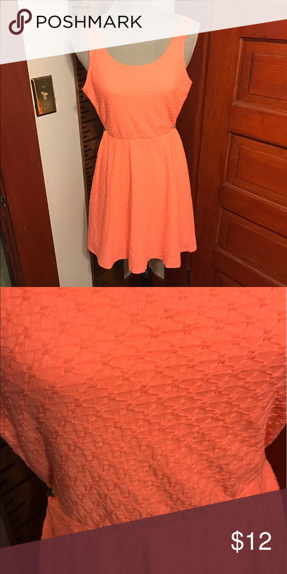 7956b5e63425 Mossimo dress Neon/ coral colored knit dress. Detailed fabric. Gently worn. Mossimo  Supply Co Dresses