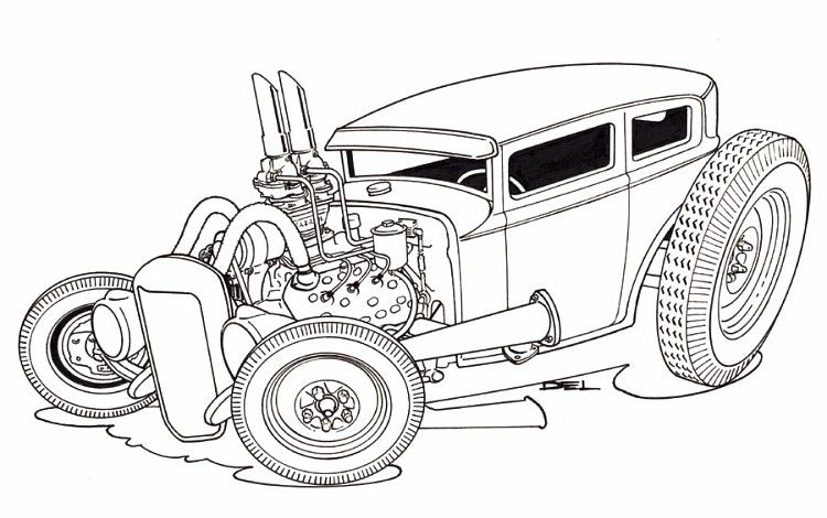 Pin By Dan The Hot Rod Man 1 On Dap Of Drawings Of Cars Rods 1