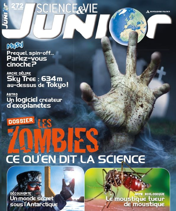 dossier sp cial les zombies ce qu 39 en dit la science svj n 272 de mai 2012 th me zombies. Black Bedroom Furniture Sets. Home Design Ideas