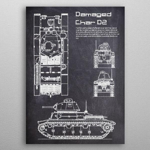 Damaged Char D2 by FARKI15 DESIGN | metal posters - Displate | Displate thumbnail