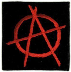 3 75 Black Red Anarchy Symbol Patch Symbols Anarchy Symbol Anarchy