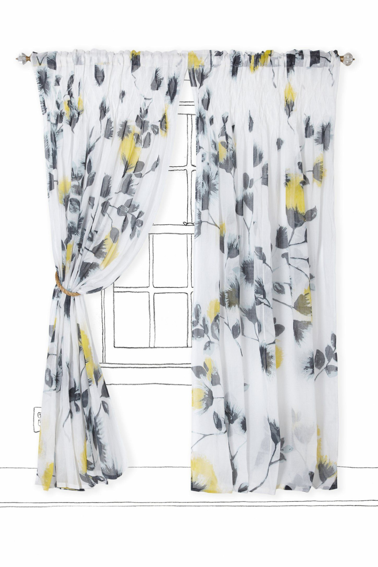 Window treatment ideas for apartment  ink garden curtain  anthropologie  sacred home window