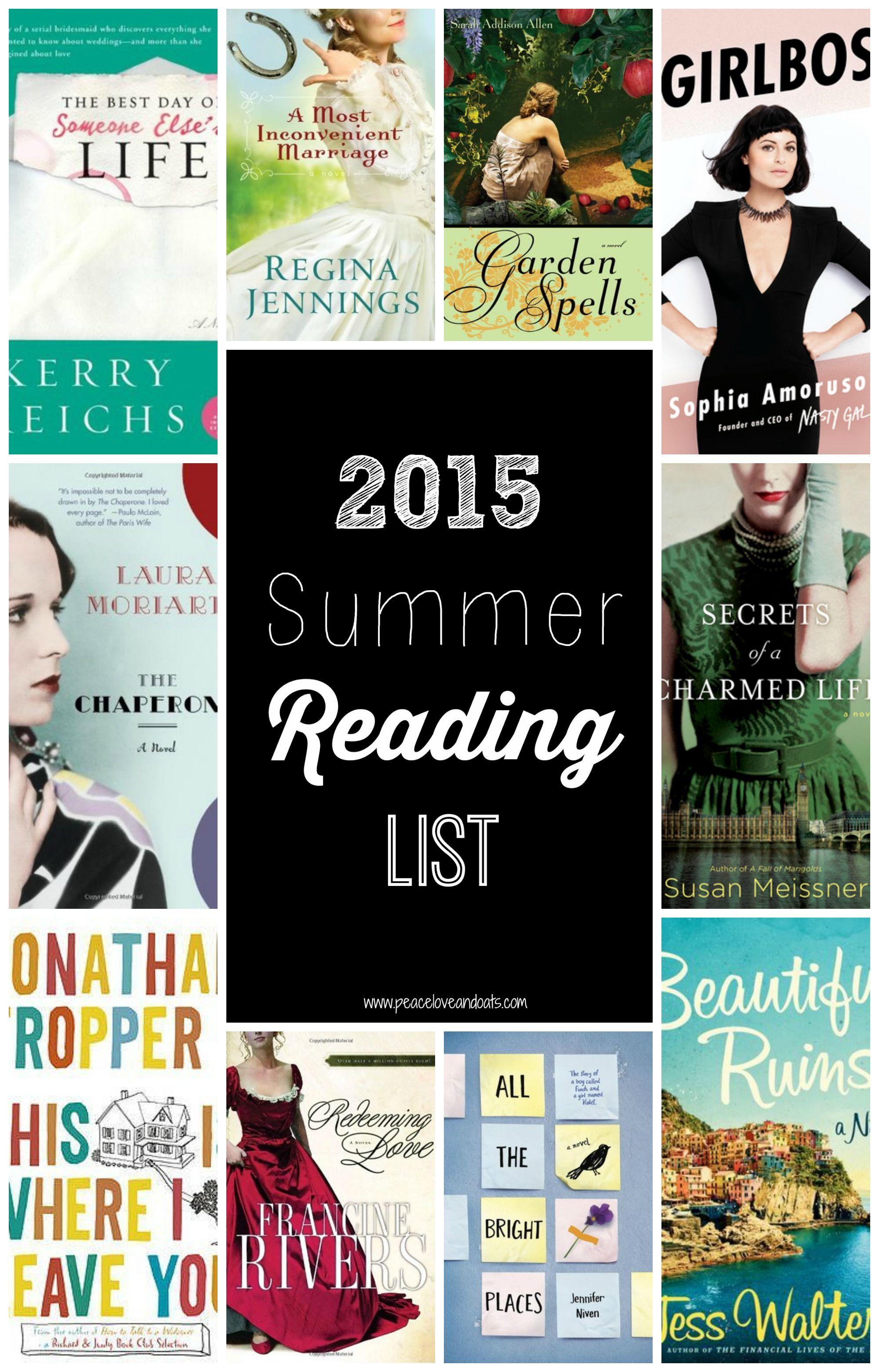 2015 summer reading list
