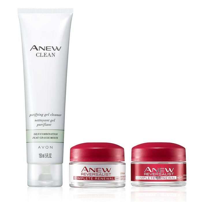 Valued at $34, the set includes:Anew Clean Purifying Gel CleanserThis purifying gel cleanser cleanses skin of dirt, oil and impurities, helps reinforce skin's protective moisture barrier to keep skin feeling resilient, and preps skin to receive the optimal results for Anew moisturizers and treatments.5 fl. oz. BENEFITS •Effectively cleanses skin of makeup, dirt, oil and impurities•Makes skin look and feel revitalized, rejuvenated and dramatically cleane...