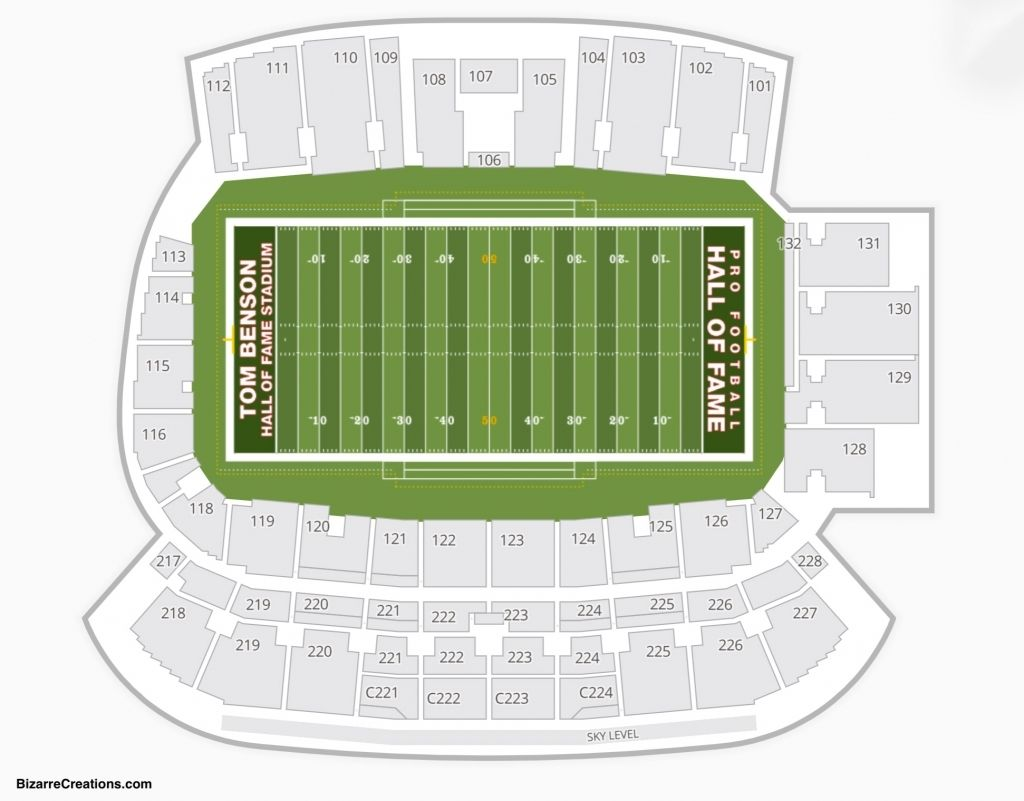 Elegant Along With Gorgeous Tom Benson Hall Of Fame Stadium Seating Chart