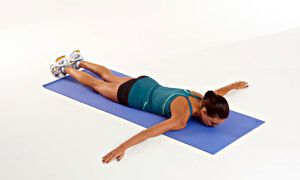 airplane/ superman extensions work your core glutes and