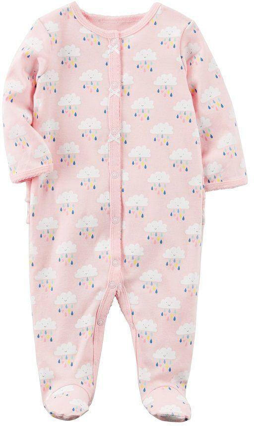 8aaaa0f9e Baby Girl Carter's Clouds Ruffled Sleep & Play | Products | Carters ...