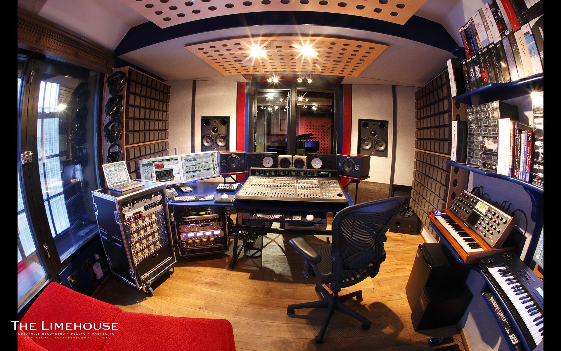 Studio Room Recording Fisheye 1920x1200 Wallpaper