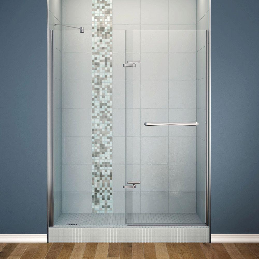 549 Maax Reveal 60 In X 71 1 2 In Shower Enclosure In Chrome 137772 900 084 000 The Home Dep Shower Door Hardware Maax Shower Doors