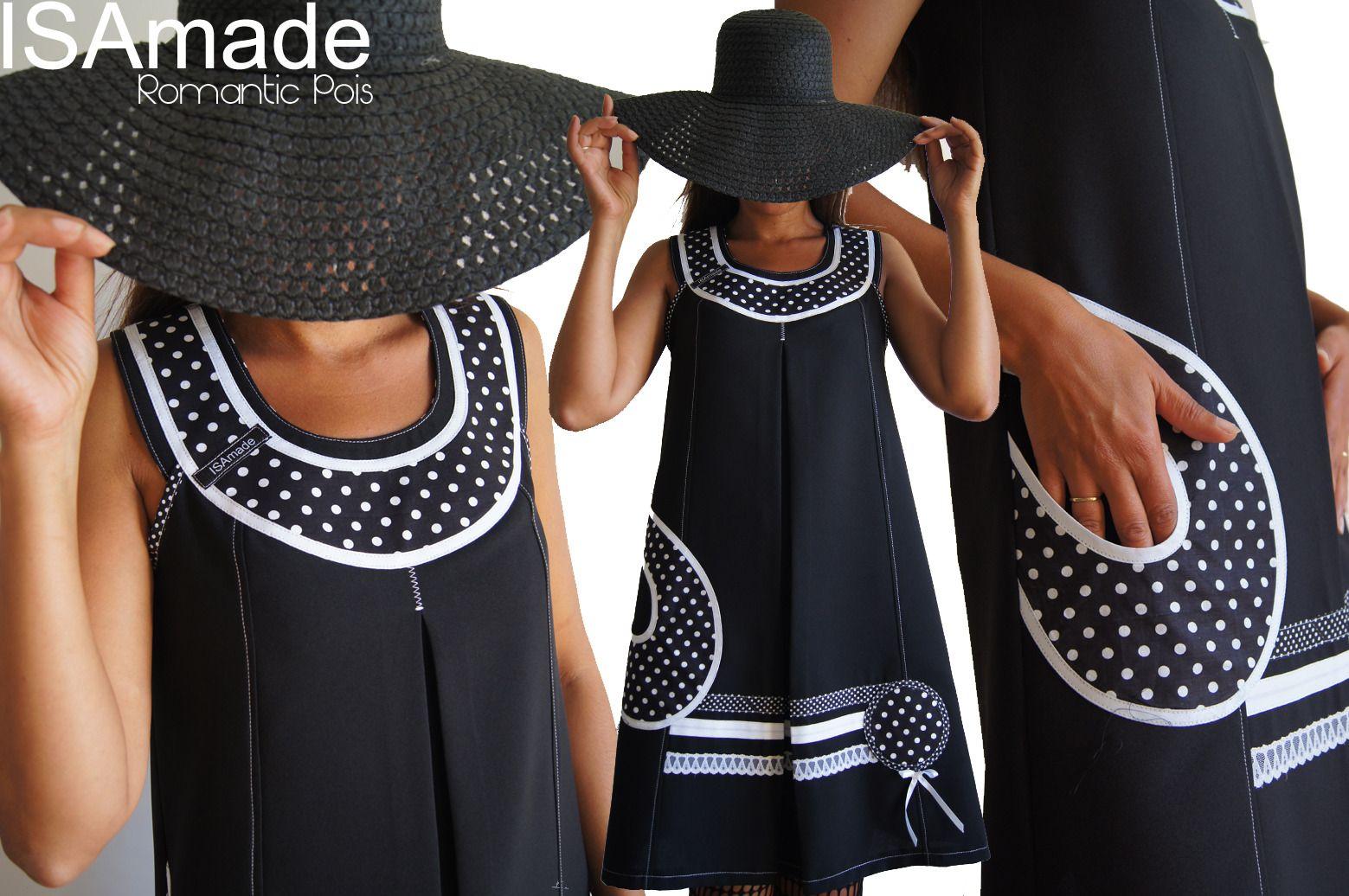 robe pois trap ze couture dentelle et pois noir blanc. Black Bedroom Furniture Sets. Home Design Ideas