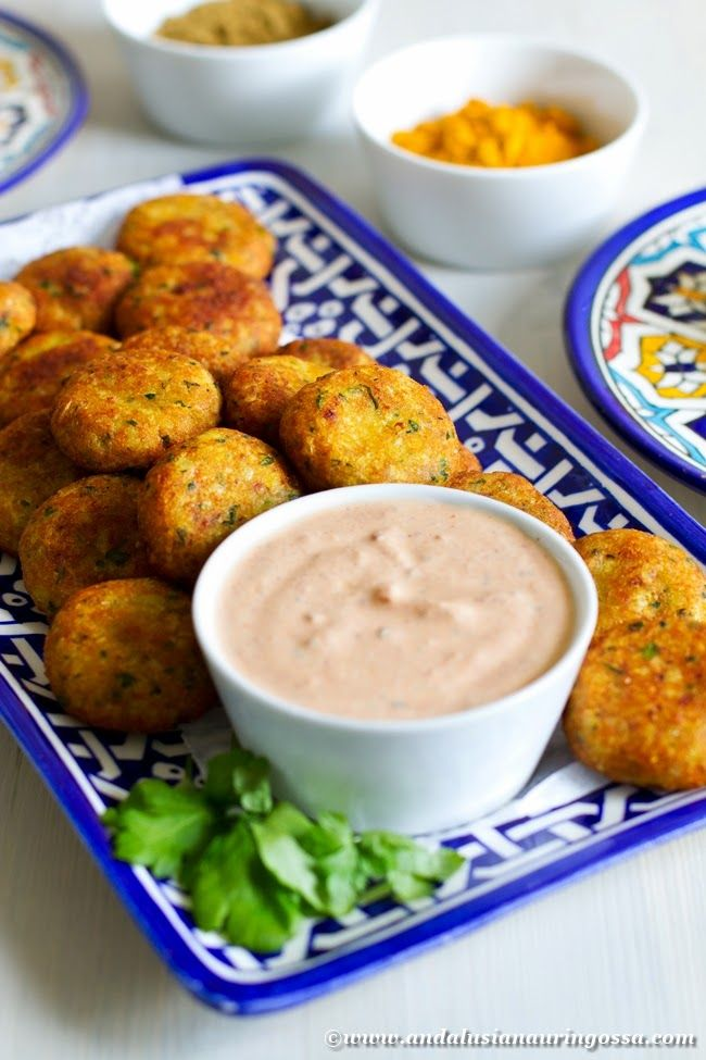 Tunisian fish kefta with harissa and yogurt dressing