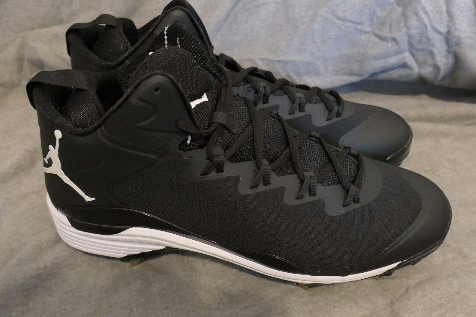 check out 67179 04f01 New Nike Air Jordan SuperFly 3 Metal Baseball Cleats 684941-010 Men s Sz 13