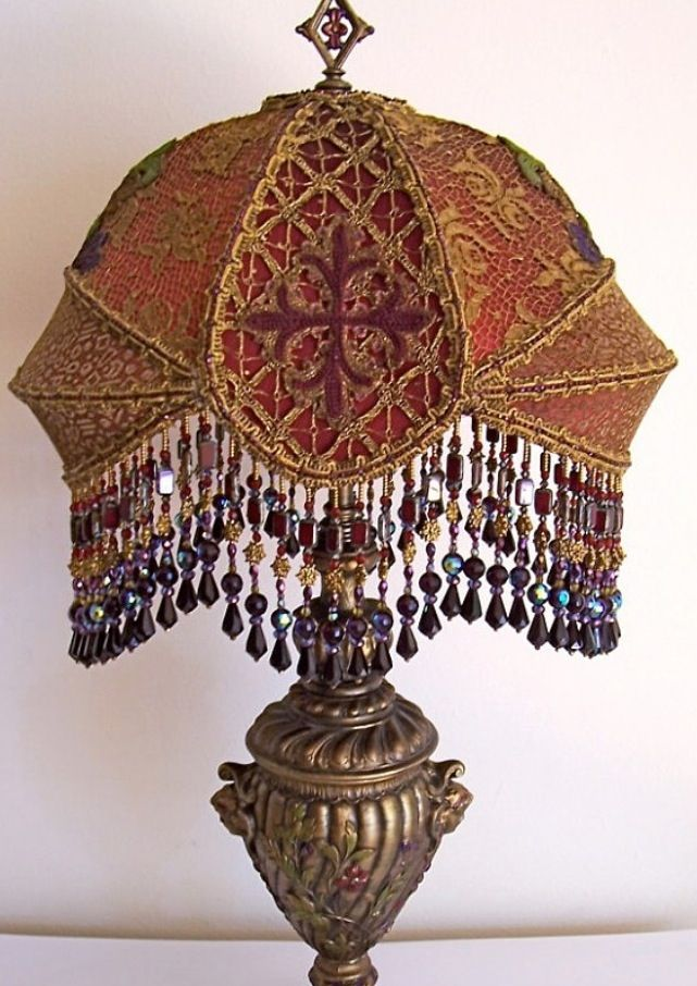 Victorian gothic lampshade lights lamps oil gas electric victorian gothic lampshade aloadofball Image collections