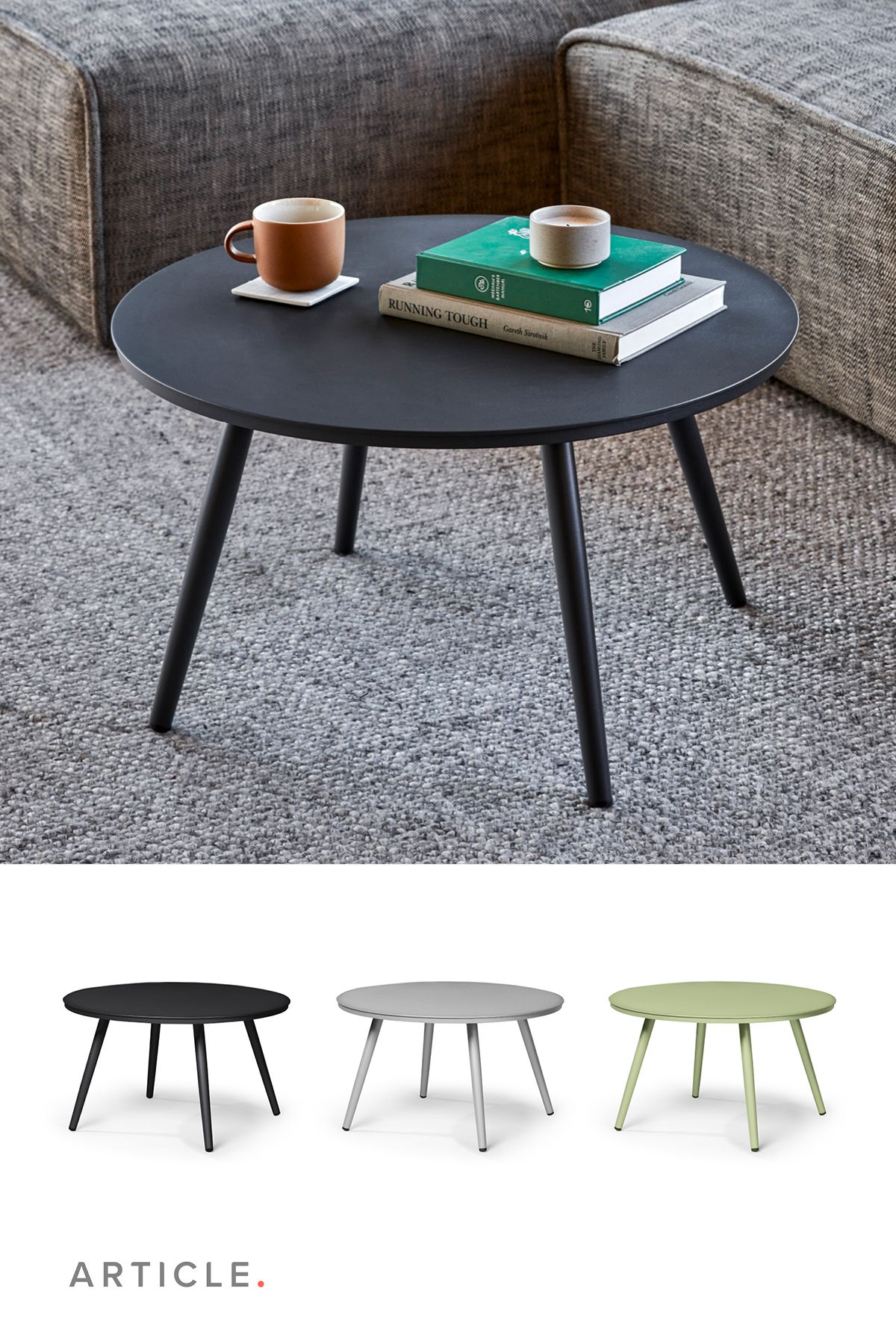 Halden Dark Charcoal 28 Round Side Table Round Side Table Table Coffee Table [ jpg ]