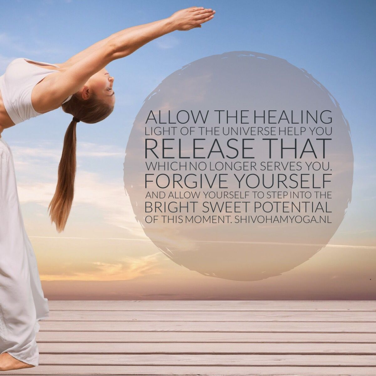 Allow the healing light of the Universe help you release that which no longer serves you. Forgive yourself and allow yourself to step into the bright sweet potential of this moment ♡ http://www.shivohamyoga.nl/ #inspiration #indigo #quotes #zen #love #yoga #wisdom #ShivohamYoga #namaste #om #instagood #me #esoteric  #cute #like #photooftheday #angels #happy #beautiful #girl #picoftheday #instadaily #smile #friends #spirituality #vegan #esoteric #pursuitofhappiness #soul #energy ॐ