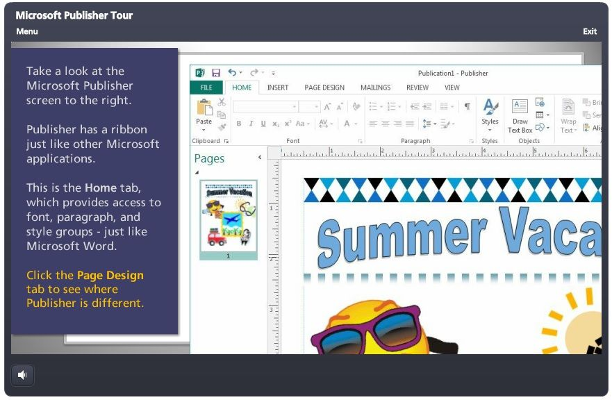 computer applications lesson plans for microsoft publisher