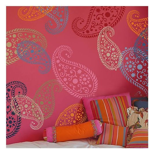 Accent Wall Paisley Stencil Vintage Paisley Paisley Diy: Paisley Stencil, Stencil Wall