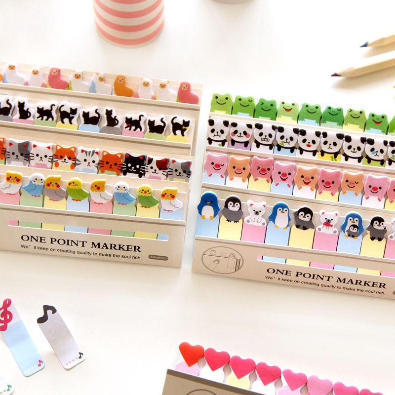 Korean Stationery Cute Kawaii Cat Panda Memo Pad Adhesive Sticky Paper Cartoon Shiba Bear Writing Pads School Supplies Memo Pads