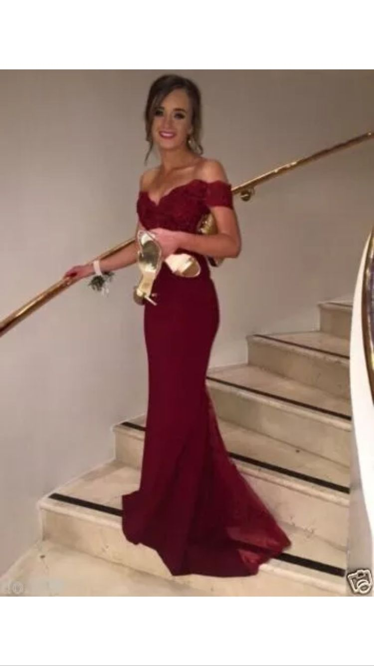 Red velvet dress prom senior party. Red velvet dress prom senior party Long  Red Lace ... a6f14e830f16
