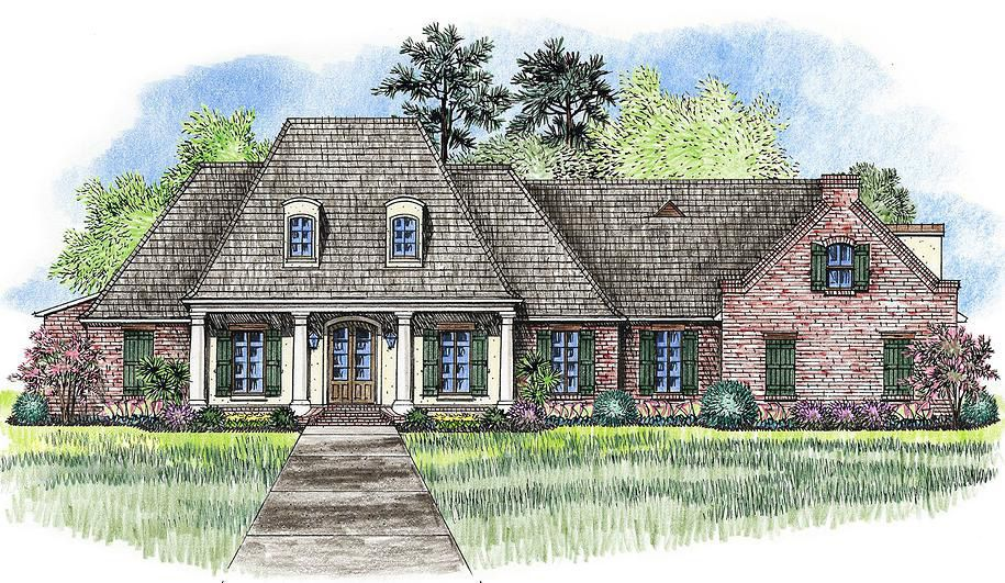 Acadian Home Plan With Outdoor Kitchen