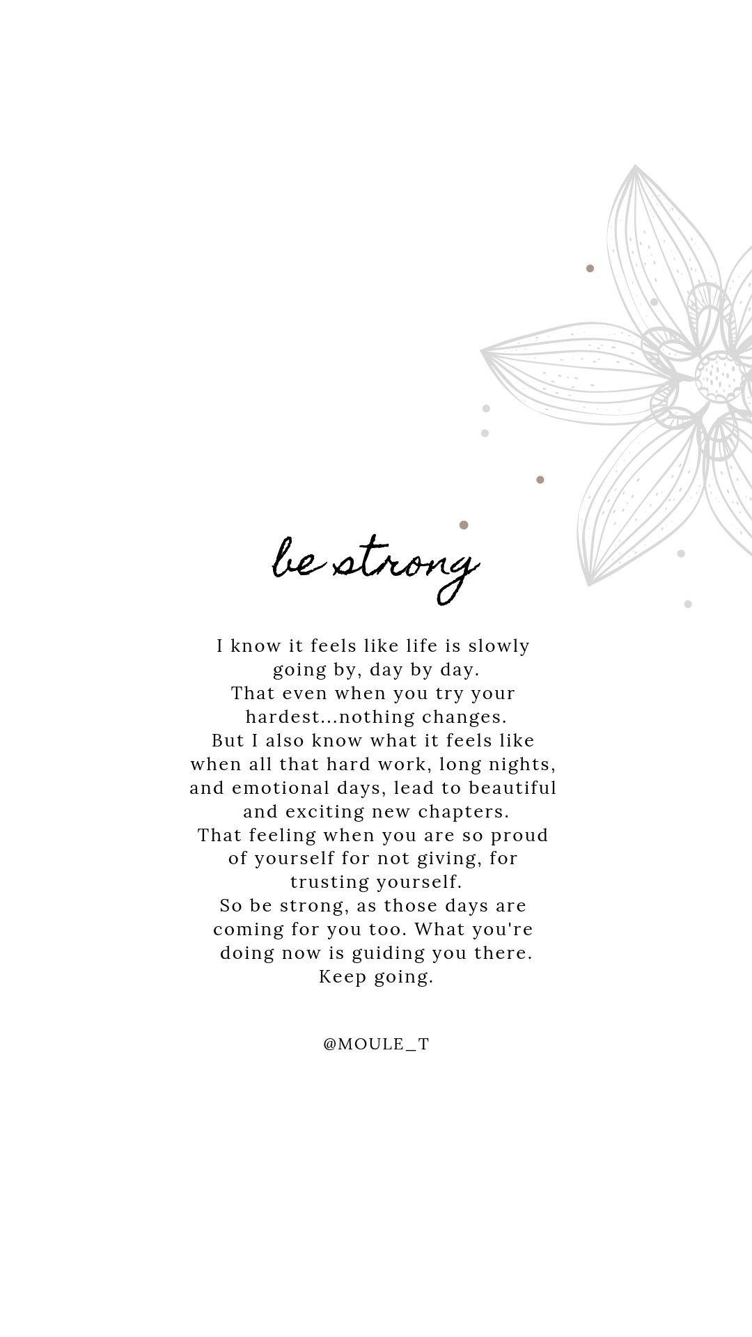 You are so strong, and there is so much growth coming, keep going love. You are doing amazing things