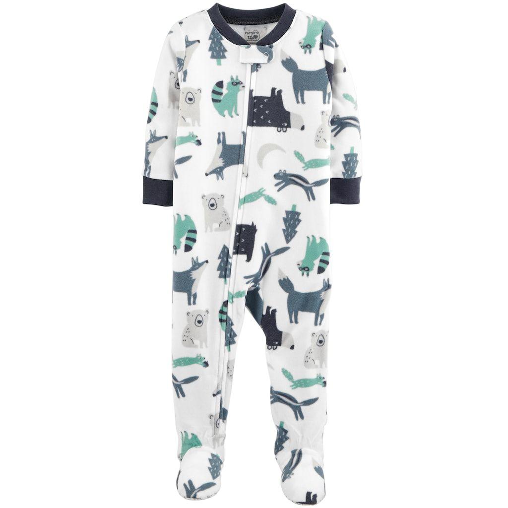 921c1f865 Baby Boy Carter s Woodland Creatures Microfleece Footed Pajamas
