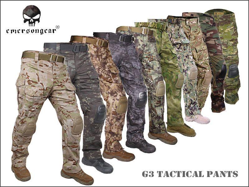 Men Airsoft Hunting Tactical bdu Pants Emerson Combat Gen3 Pants with Knee Pad