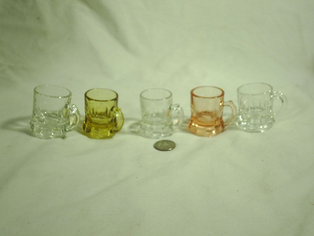 Shot Glass Mugs Lot of 5 Glass Party Favors