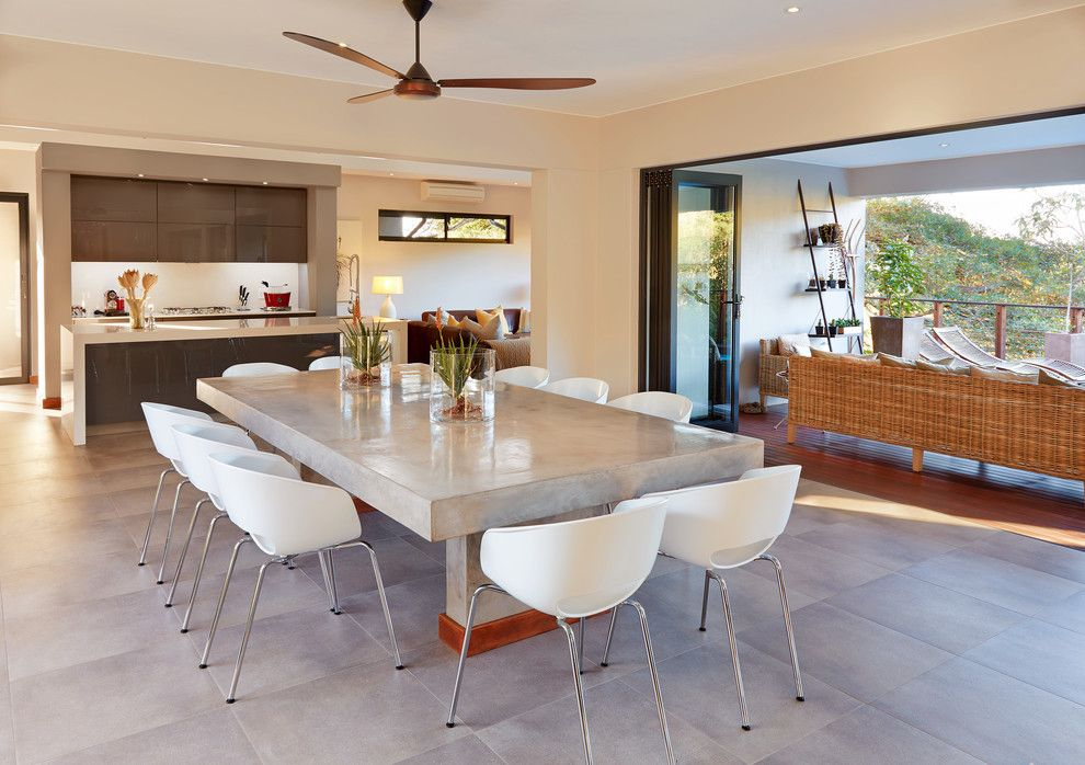 Contemporary Ceiling Fans Over Dining Tables Google Search