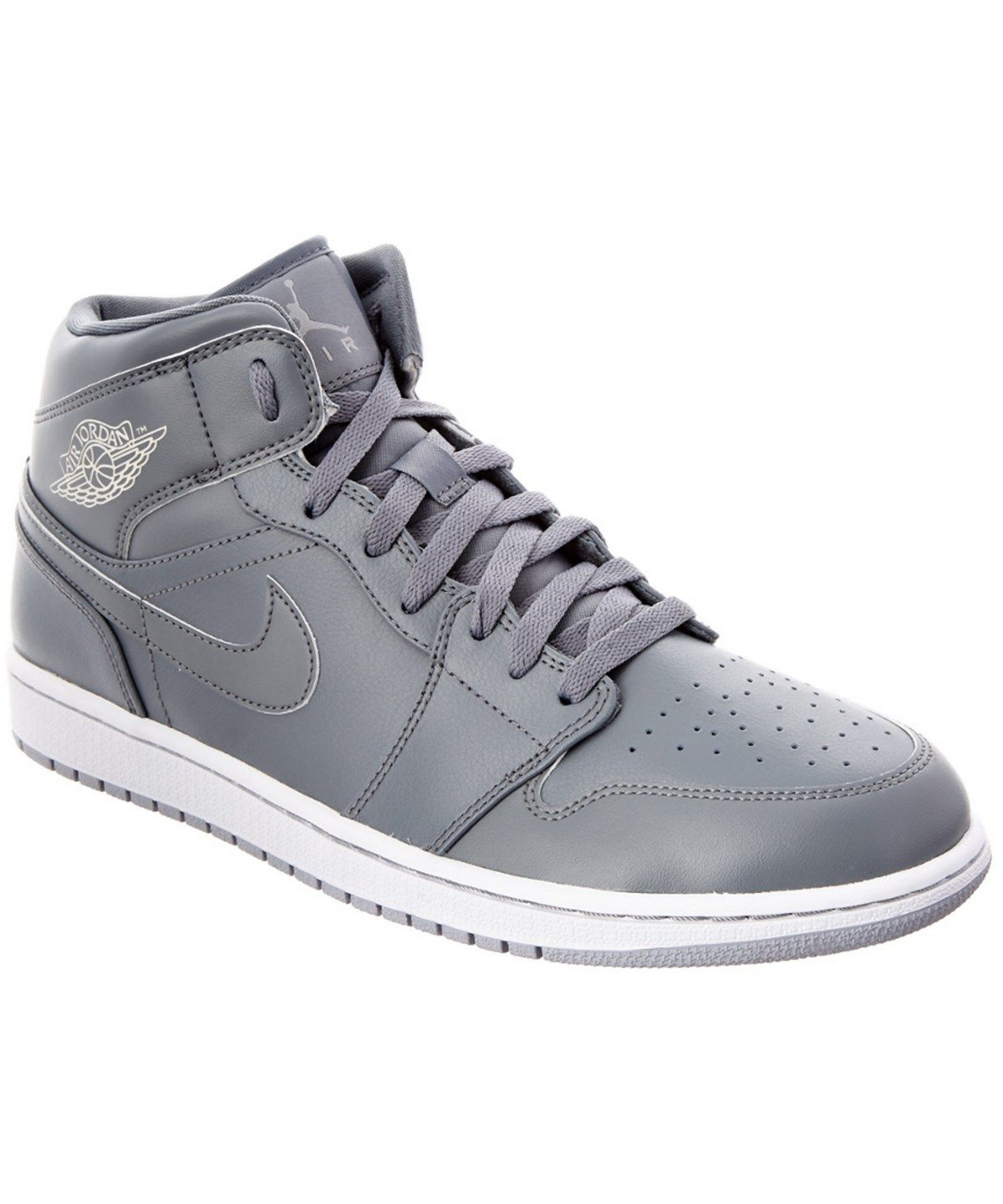 52d693165fe505 NIKE Nike Men S Air Jordan 1 Mid Leather Sneaker .  nike  shoes  sneakers
